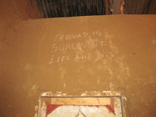 """""""The God is the source of life and peace"""" in Florence's house"""