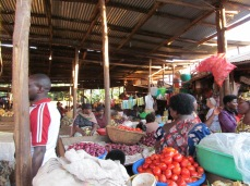 Market in Cyangugu (this will be our grocery store)