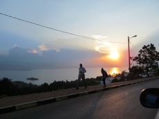 Sunset over Lake Kivu